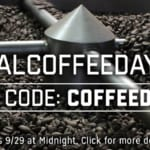 National Coffee Day 2016 – 15% off sale