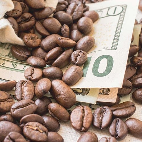 Photo of Organic fair trade fundraising coffee sold by Just Coffee Cooperative in Madison WI. Just Coffee is a certified B Corp to ensure a mission of sustainability.